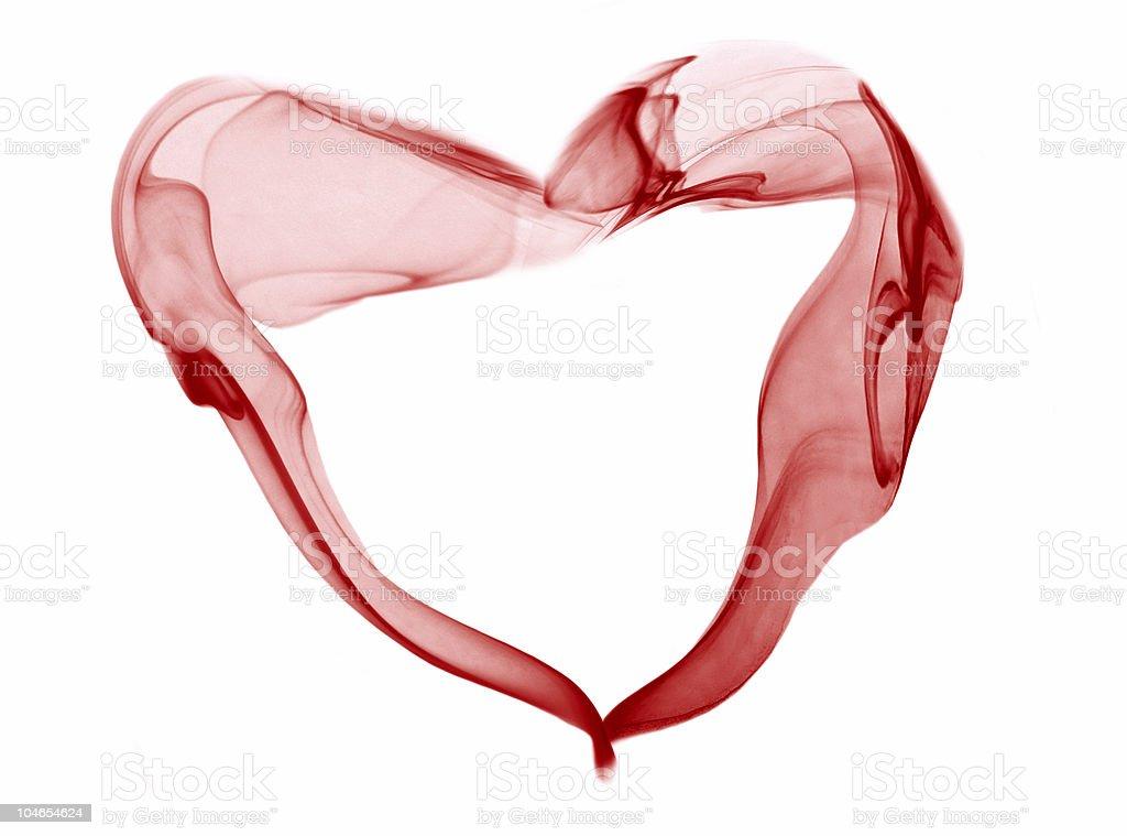 red smoke heart royalty-free stock photo