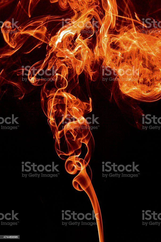 Red smoke on a black background. royalty-free stock photo