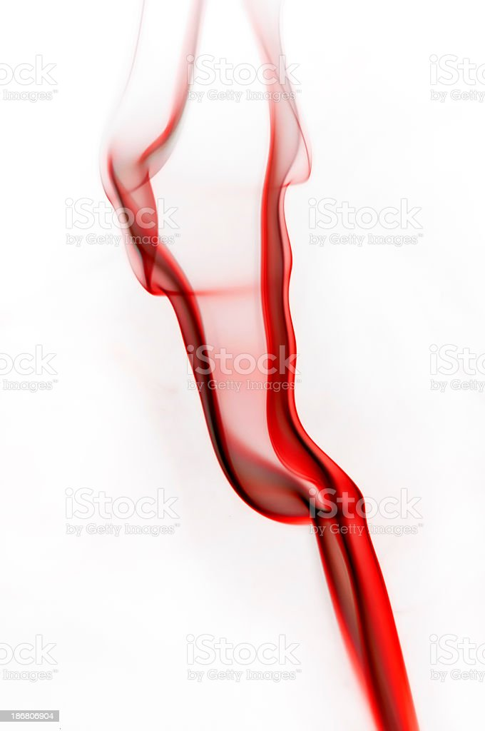 Red Smoke or blood flowing in water royalty-free stock photo