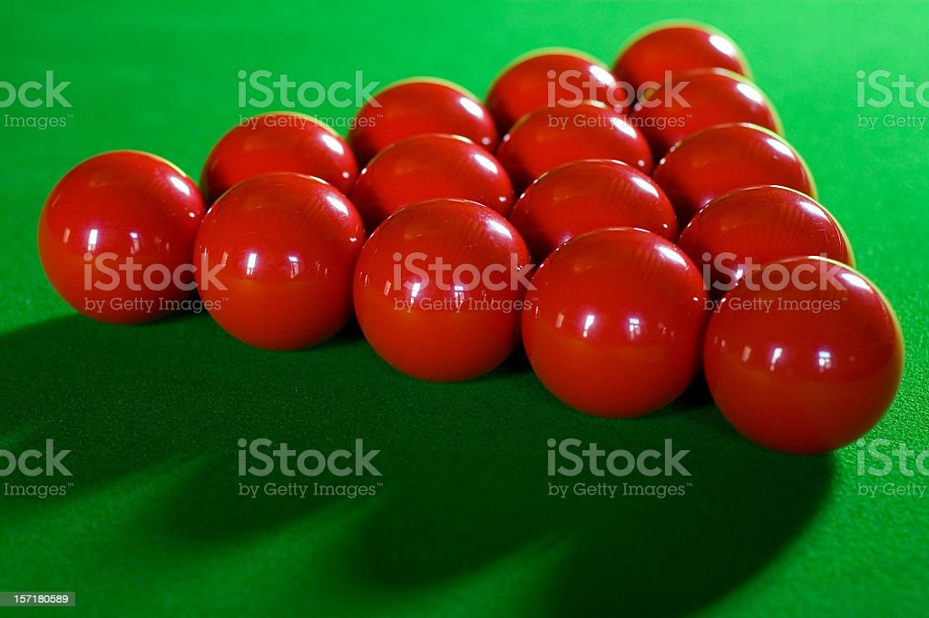 Red Snooker Balls royalty-free stock photo