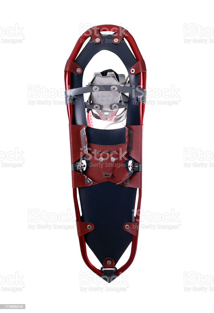 Red Snowshoe Isolated on White Background royalty-free stock photo