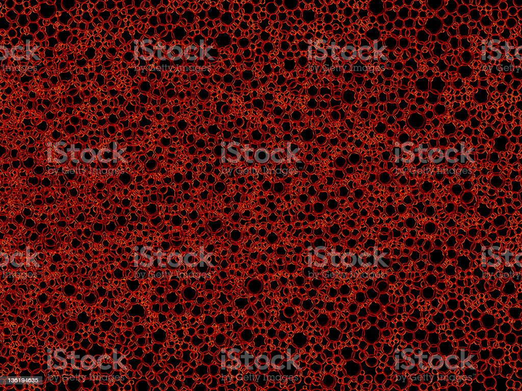 Red soap/bubbles texture (XXXL) royalty-free stock photo