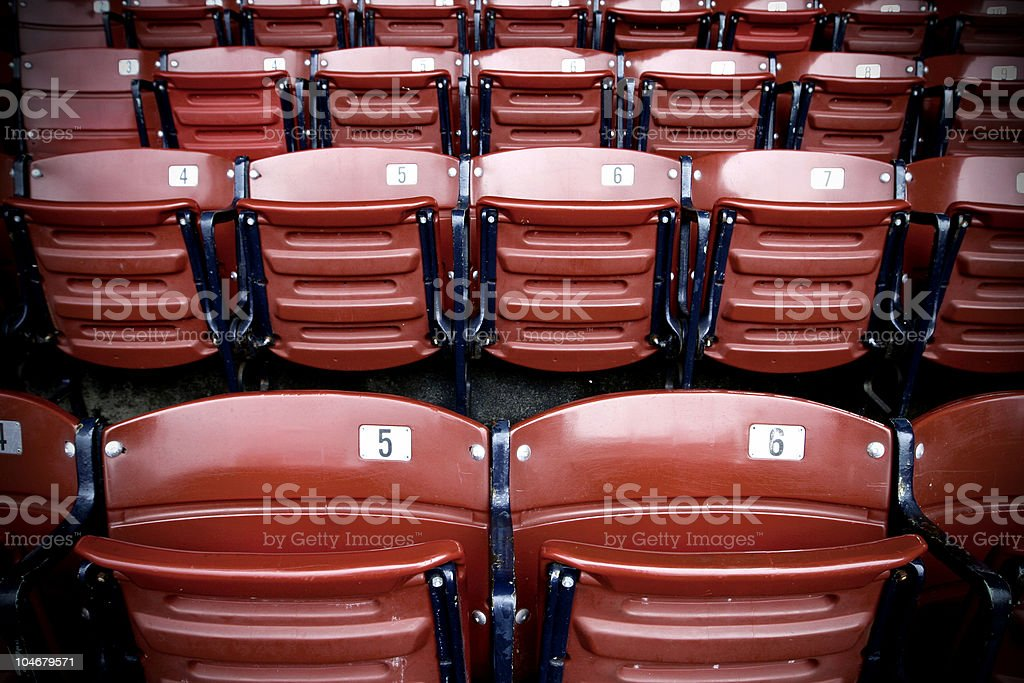 Red Socks Seats royalty-free stock photo