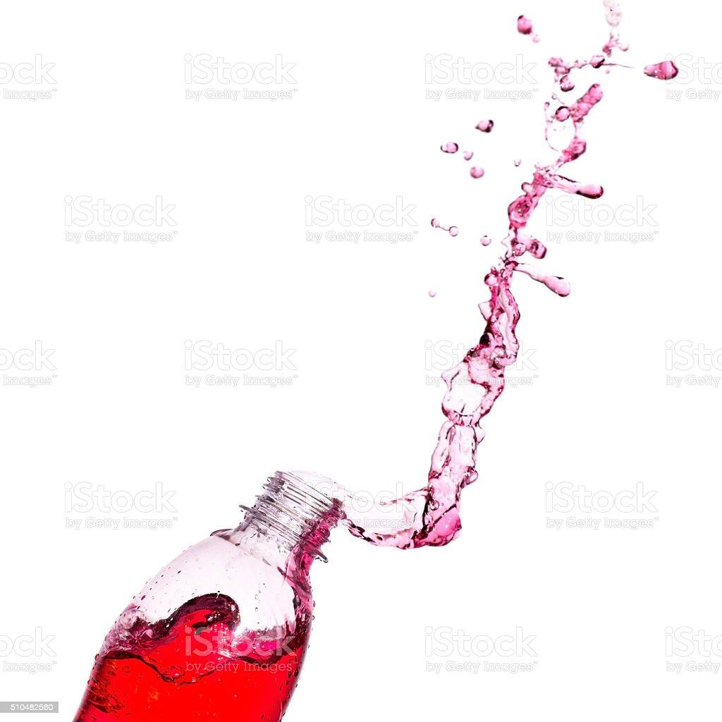 Red soda splash stock photo