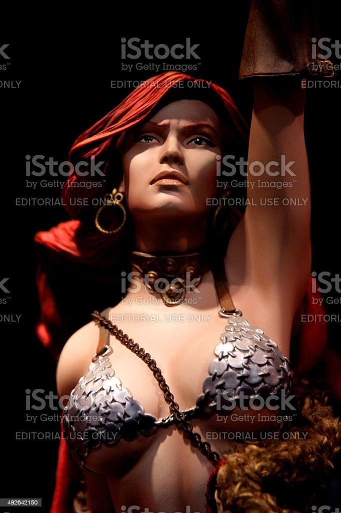 Red Sonja stock photo
