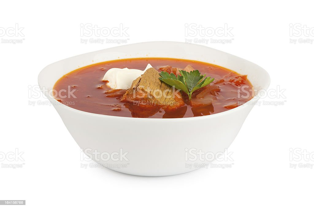 red soup royalty-free stock photo
