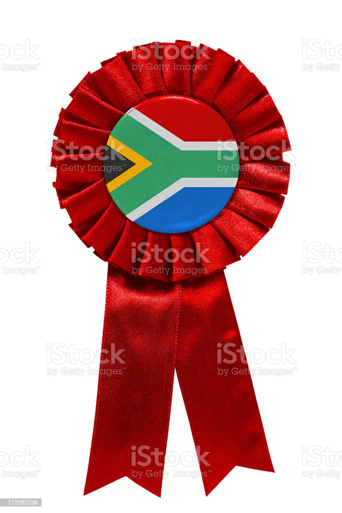 Red South African ribbon stock photo