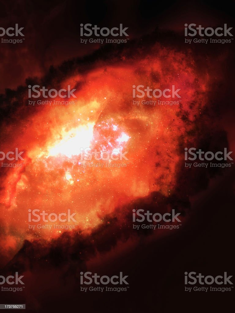 Red Space Galaxy stock photo