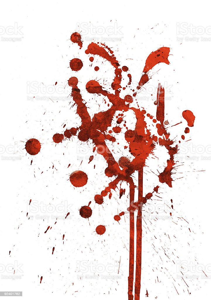 Red Spatter royalty-free stock photo