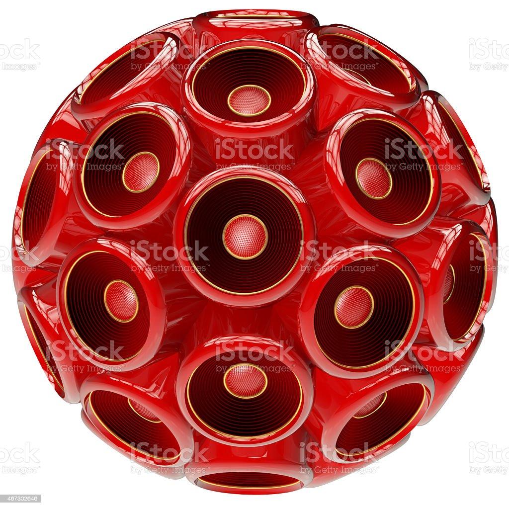 Red Speaker sphere stock photo
