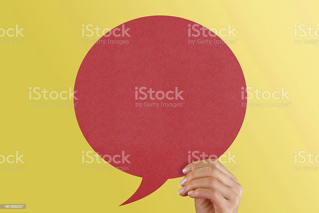 Red speech bubble. royalty-free stock photo