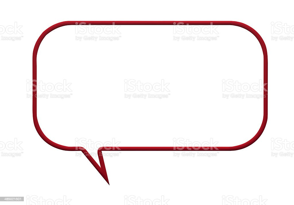 red speech bubble stock photo