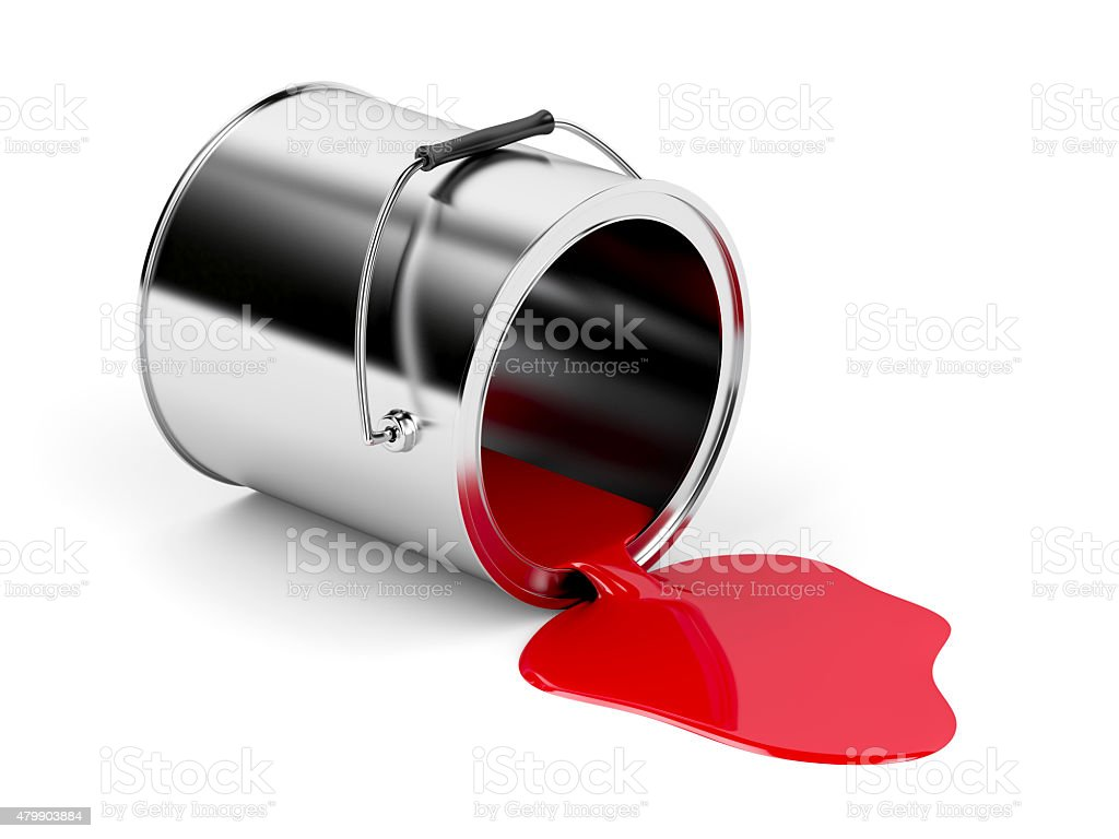 Red spilled paint stock photo