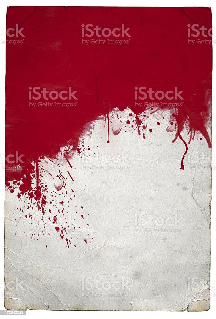 Red splat royalty-free stock photo