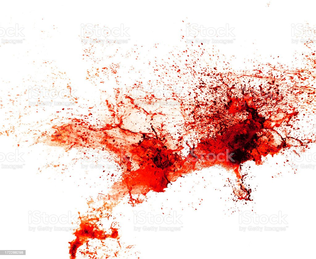 Red Splatter royalty-free stock photo