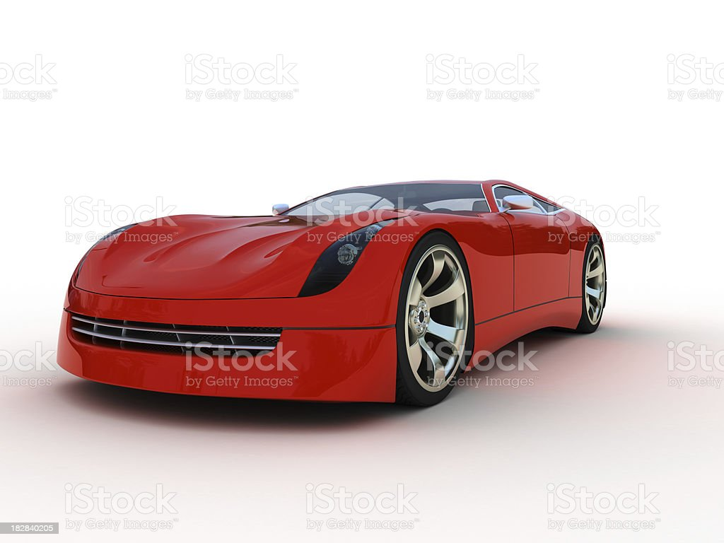 Red Sport Car royalty-free stock photo