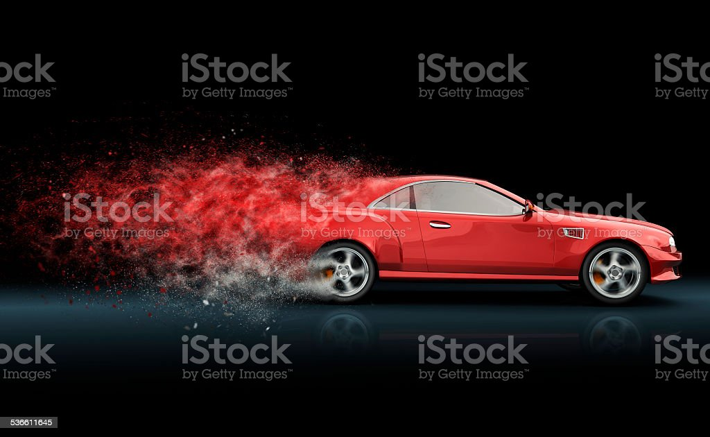 Red sport coupe stock photo