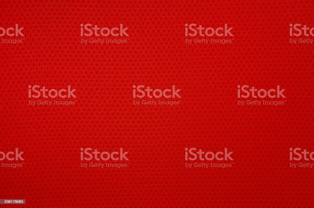 Red sport mesh clothes stock photo