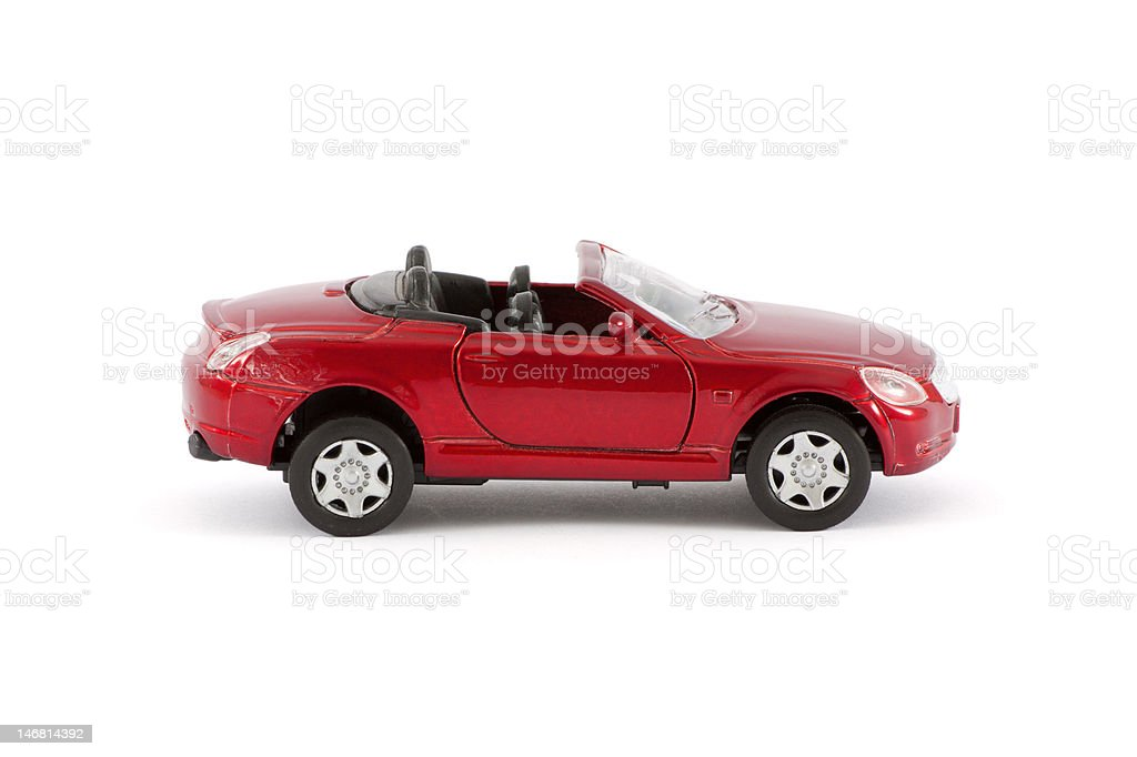 Red sports car (toy) royalty-free stock photo