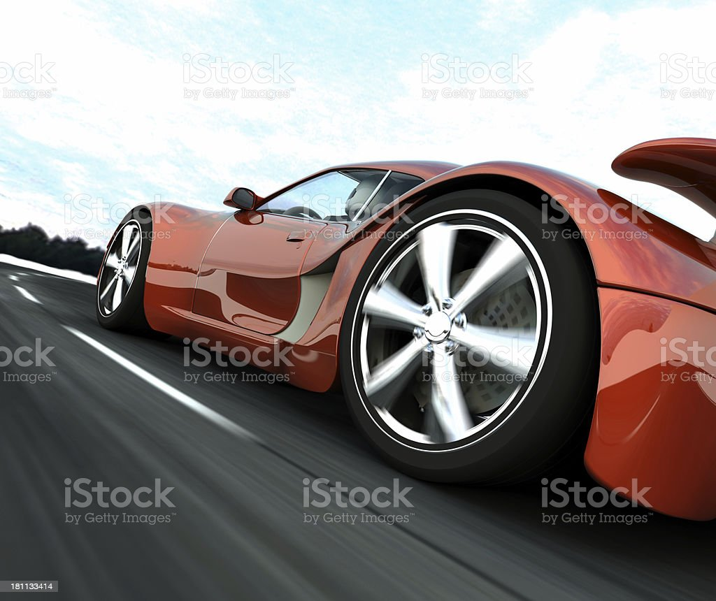 Red Sports Car stock photo