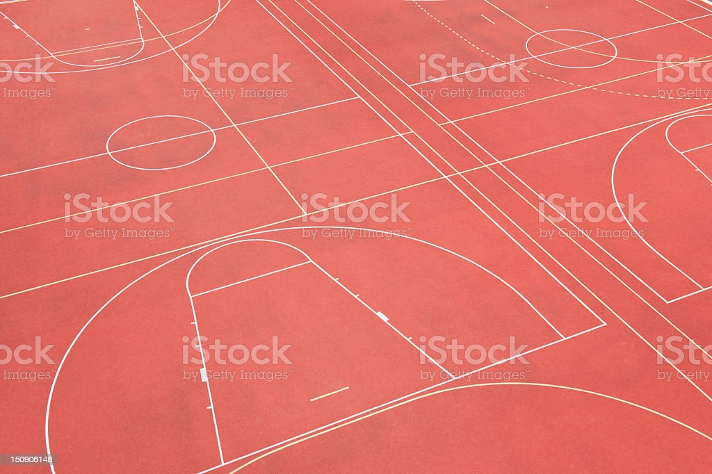 Red Sports Field Outdoors royalty-free stock photo