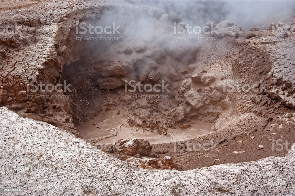 Red Spouter in Yellowstone stock photo