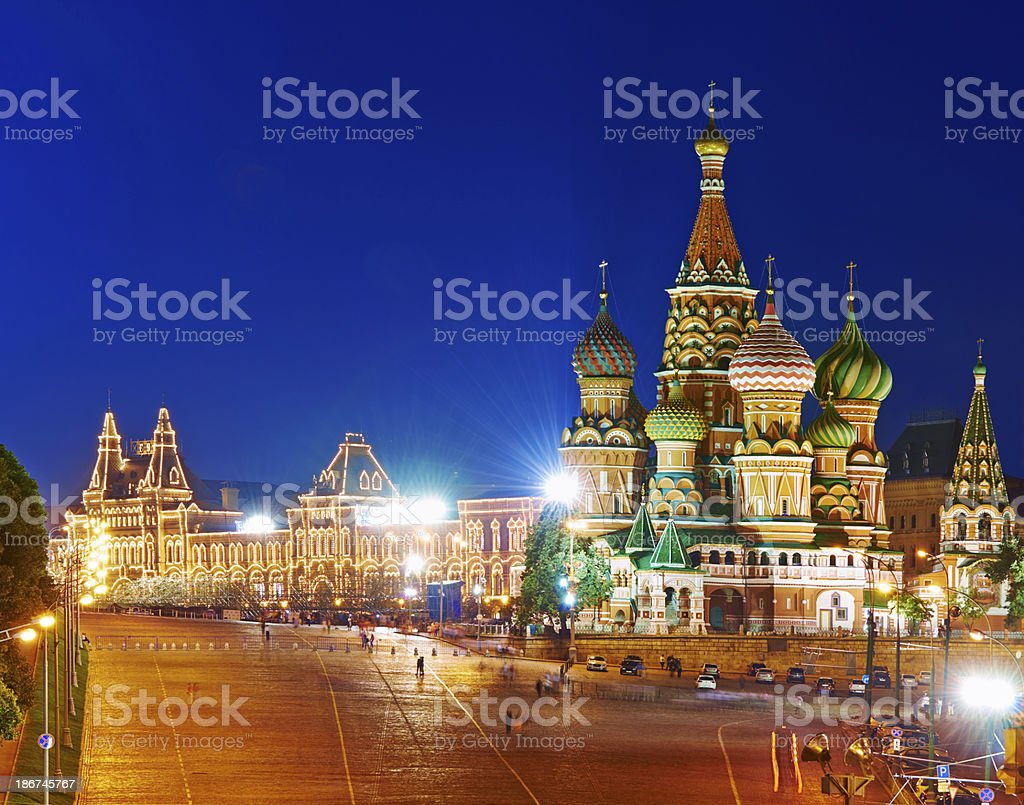 Red Square and St. Basil Cathedral. royalty-free stock photo