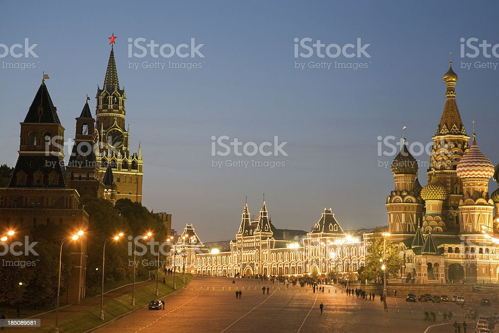 Red Square at night royalty-free stock photo