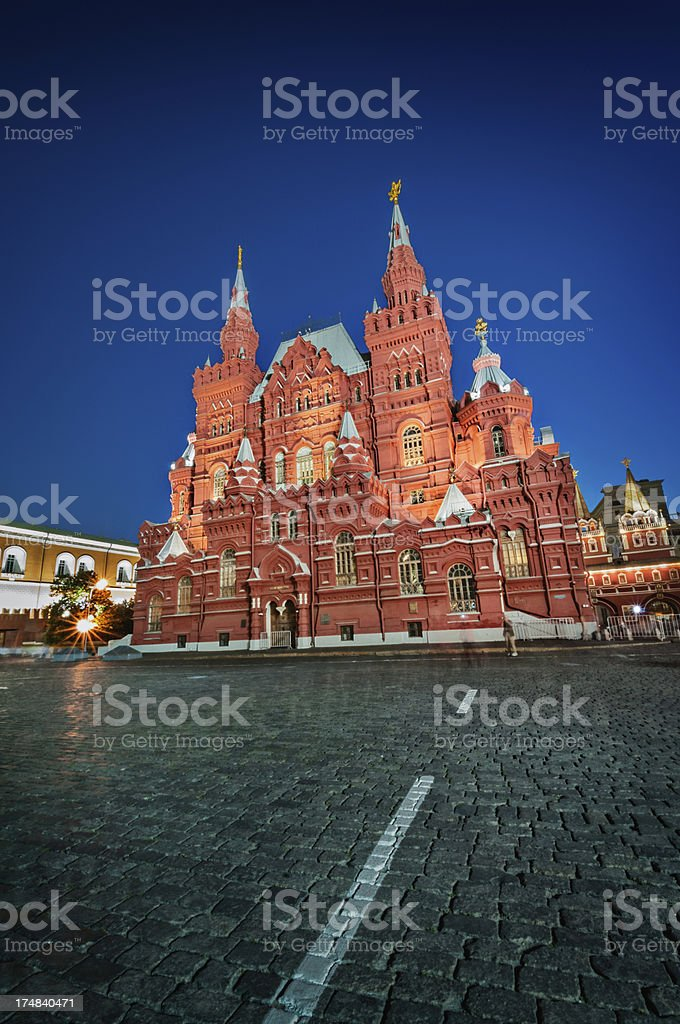 Red Square in Moscow at Dusk stock photo