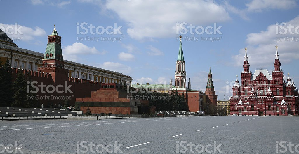 Red square in Moscow, Russian Federation royalty-free stock photo