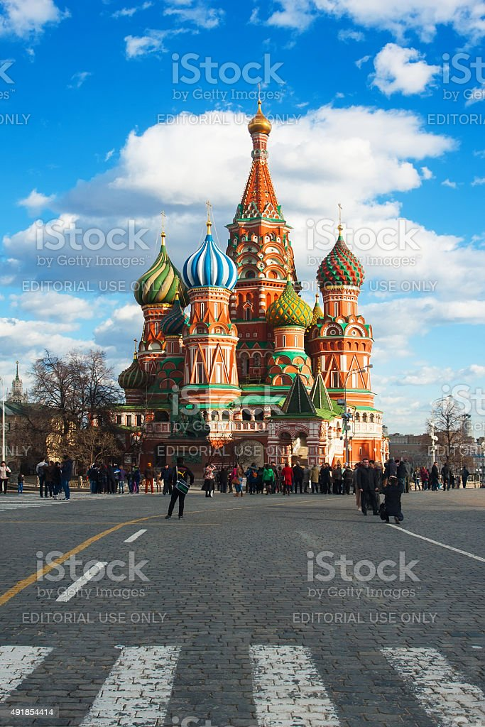 Red square in Moscow, Russian Federation stock photo