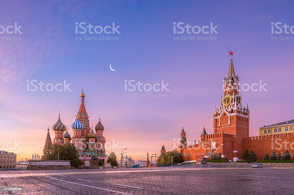 Red Square in the morning stock photo