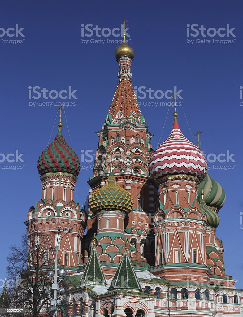Red square saint Basil's cathedral royalty-free stock photo