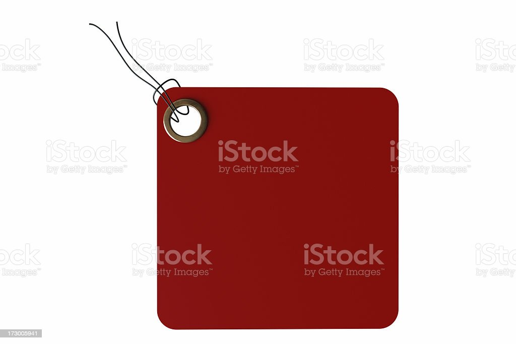 Red square Tag royalty-free stock photo