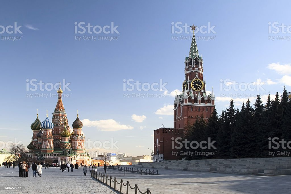 Red Square view. Moscow. Russia royalty-free stock photo
