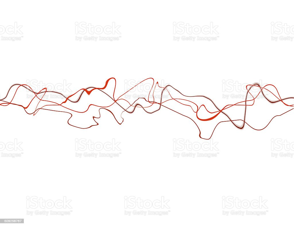 Red Squiggly Lines stock photo