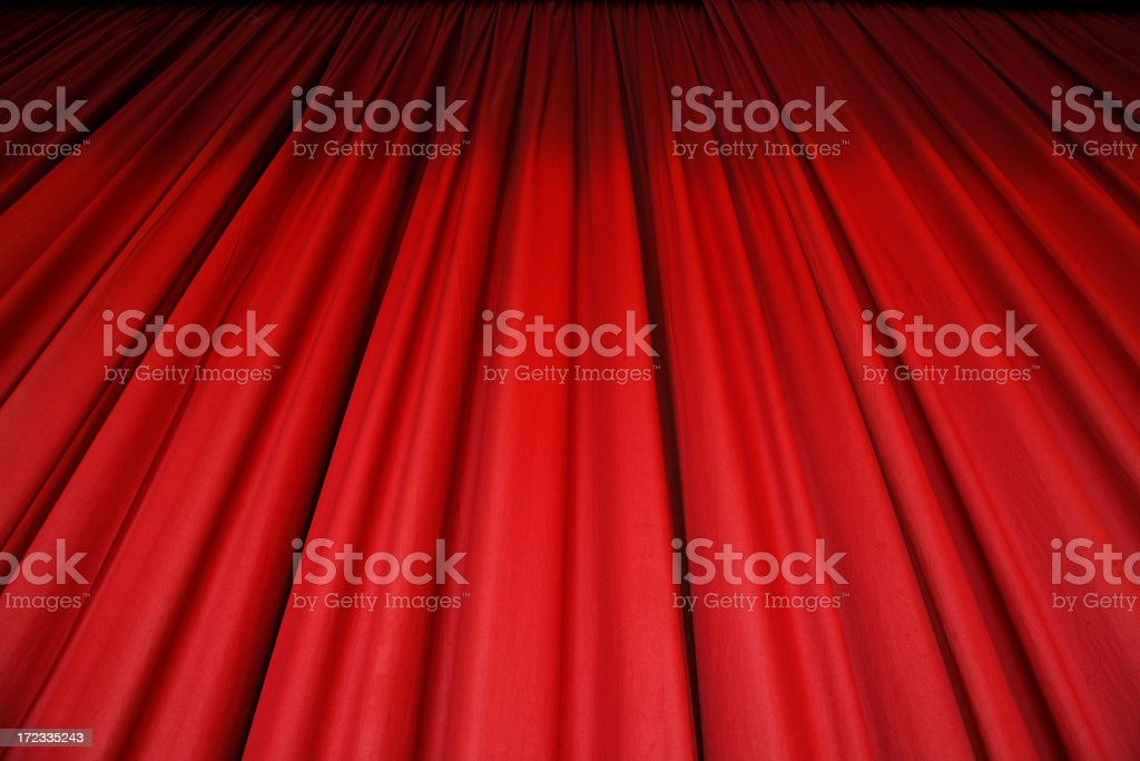 Red Stage Curtain royalty-free stock photo