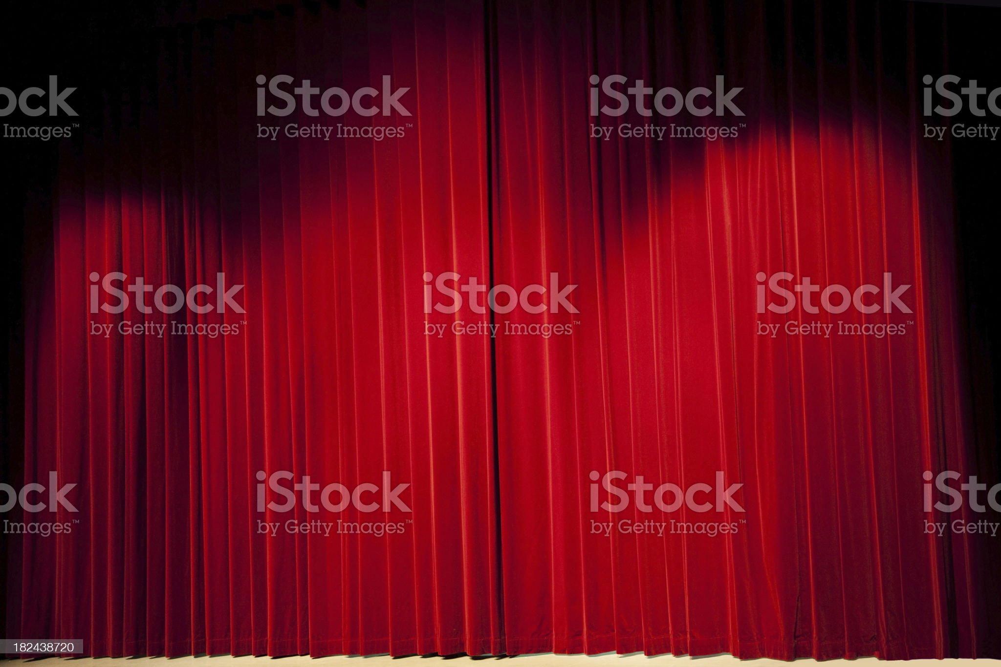 Red stage curtains # 2 XXL royalty-free stock photo