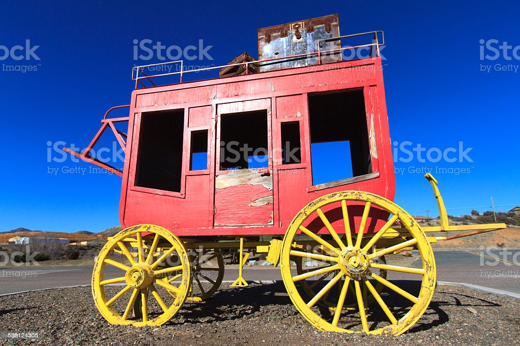 Red Stagecoach, Arizona stock photo