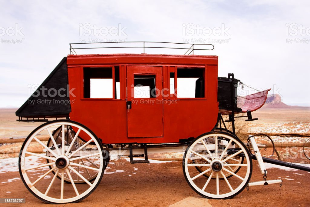 Red Stagecoach stock photo