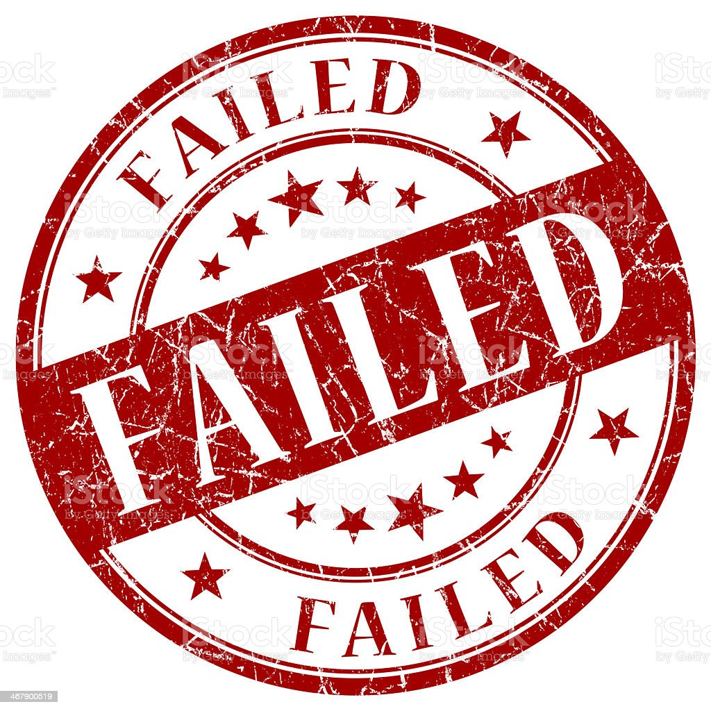 FAILED red stamp stock photo