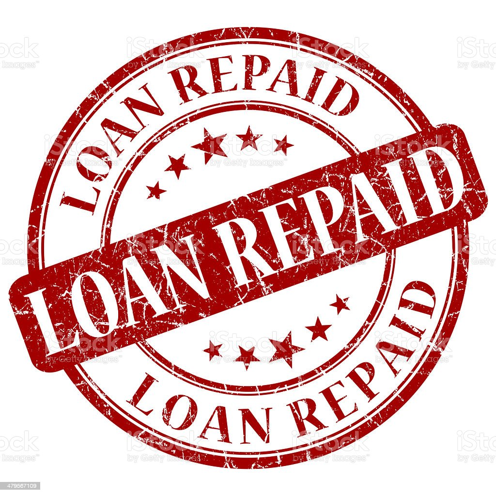 LOAN REPAID red stamp stock photo