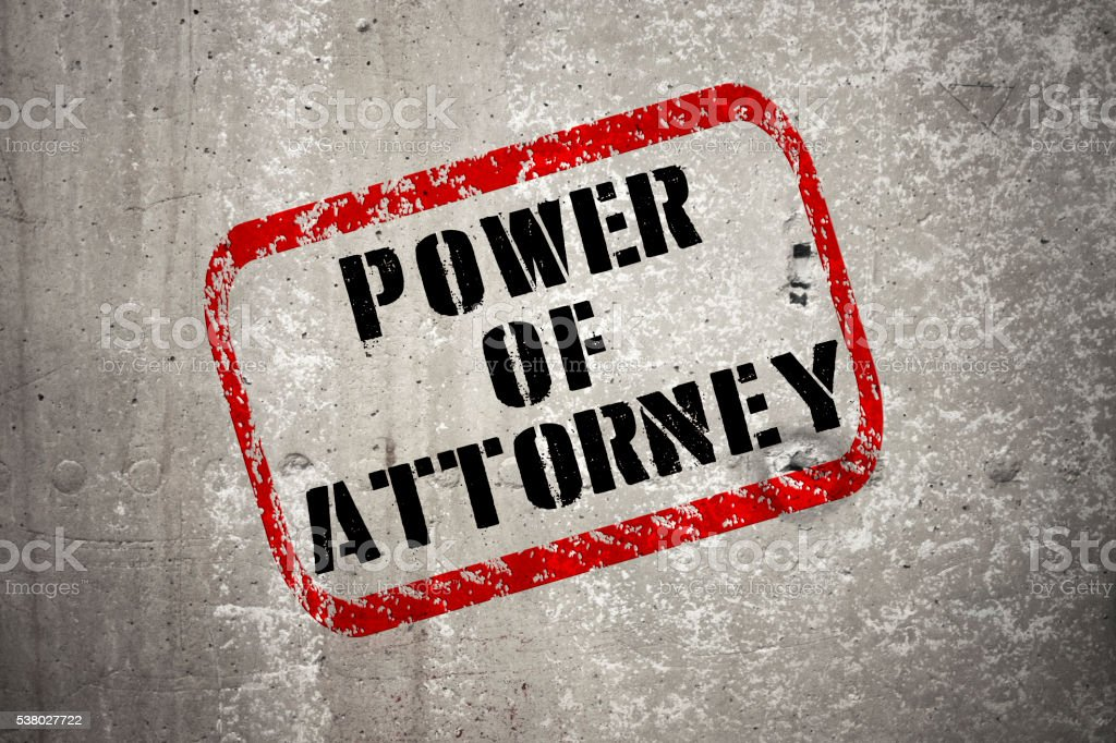 Red Stamp - POWER OF ATTORNEY stock photo