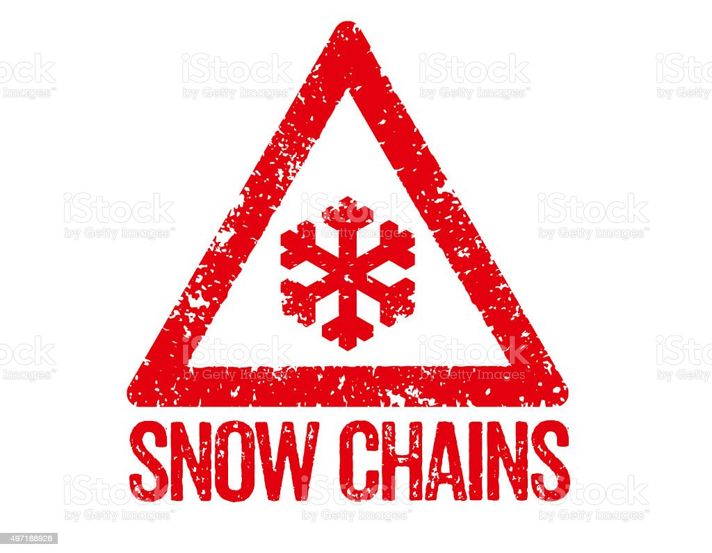 Red Stamp - Snow Chains vector art illustration