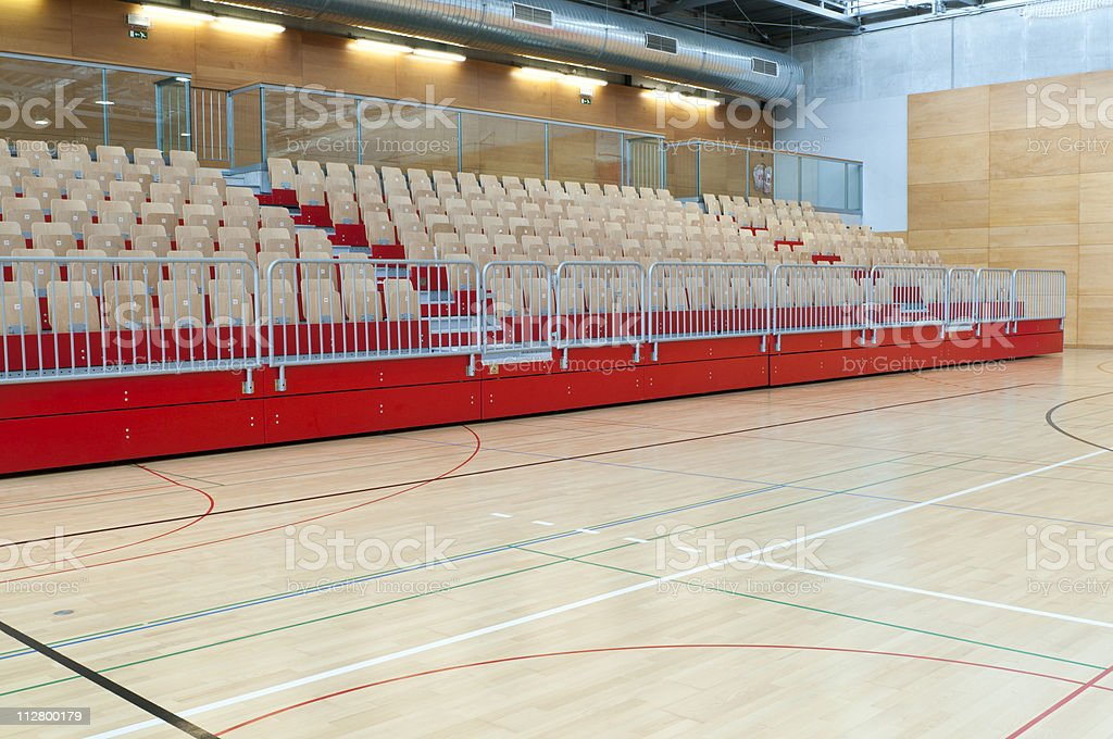 Red Stand in Sports Hall royalty-free stock photo