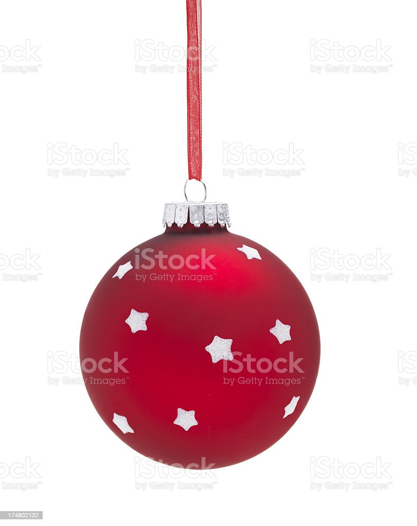 Red Star Bauble royalty-free stock photo