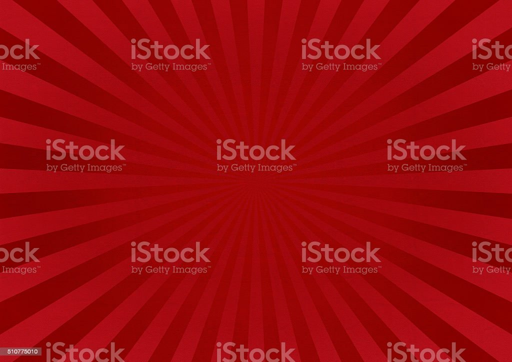 Red Star Burst Background With Fabric Texture stock photo