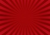 Red Star Burst Background With Fabric Texture