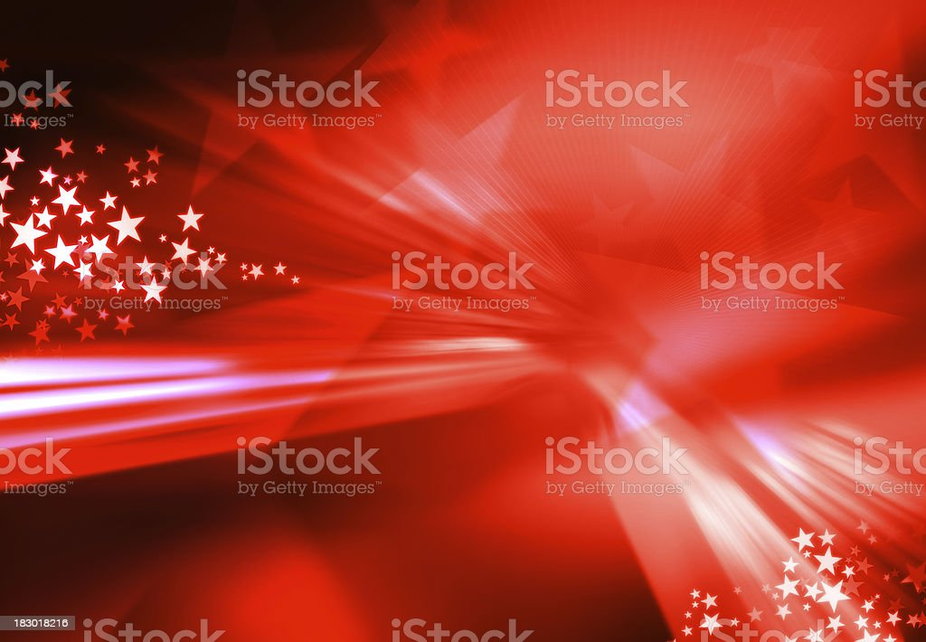 red star burst stock photo