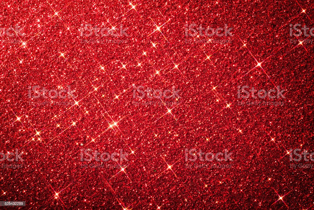 Red Star Glitter Background - Christmas Anniversary stock photo